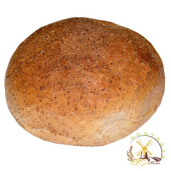 Pîine rotunda de casă, cu secară