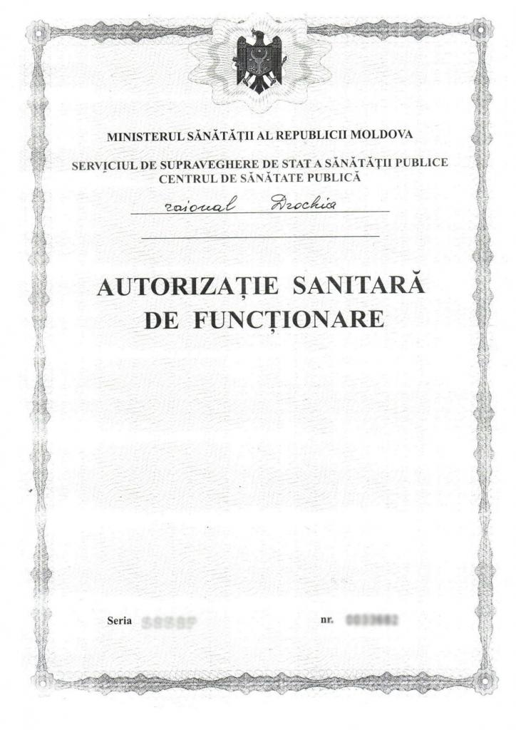 autorizatie sanitara de functionare
